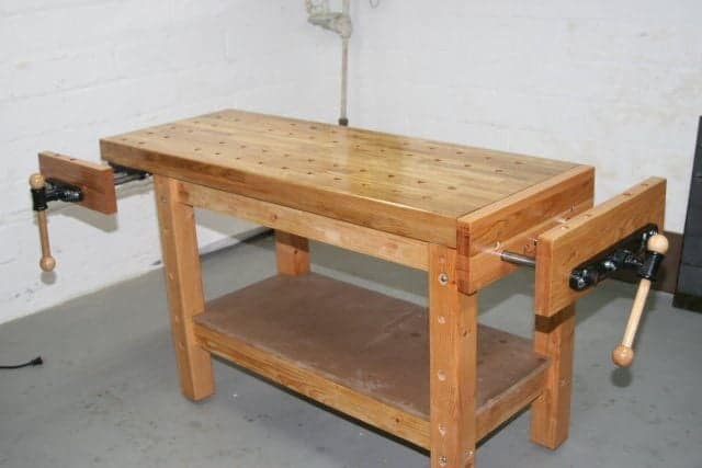 Excellent 10 Simple And Free Diy Workbench Plans For Woodworkers Ibusinesslaw Wood Chair Design Ideas Ibusinesslaworg