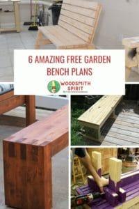 Free DIY garden bench plans